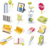 Icone degli oggetti di vettore impostate. Parte 8 Immagine Stock Libera da Diritti