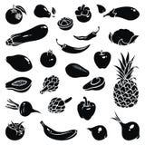Icone degli ortaggi da frutto Immagine Stock