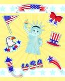 Icone degli S.U.A. Fotografia Stock Libera da Diritti