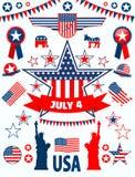 Icone degli S.U.A. Immagini Stock Libere da Diritti