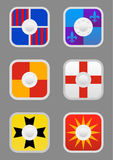Icone degli schermi del quadrato messe Fotografia Stock Libera da Diritti