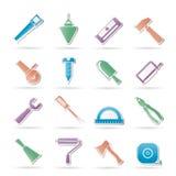 Icone degli strumenti dell'edificio e della costruzione Immagini Stock