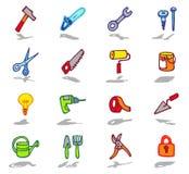 icone degli strumenti impostate illustrazione vettoriale