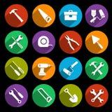 Icone degli strumenti messe Fotografia Stock