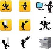 Icone degli uomini di affari Fotografie Stock