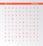 Icone dei beni di istruzione di UI UX illustrazione di stock
