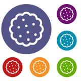 Icone dei biscotti messe illustrazione vettoriale