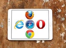 Icone dei browser Web fotografie stock