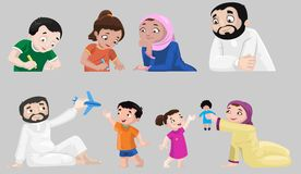 Icone dei caratteri arabi Fotografia Stock Libera da Diritti