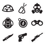 Icone dei commando Immagini Stock Libere da Diritti