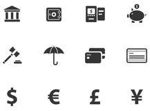 12 icone dei contanti Immagine Stock