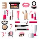 Icone dei cosmetici Fotografie Stock Libere da Diritti