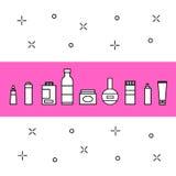 Icone dei cosmetici messe Fotografie Stock