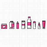 Icone dei cosmetici messe Immagini Stock Libere da Diritti