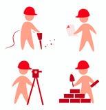 Icone dei costruttori Fotografia Stock