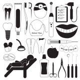 Icone dei denti e dentarie di cura Immagine Stock