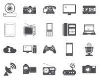 Icone dei dispositivi. illustrazione di stock