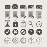 Icone dei documenti e della posta Immagini Stock