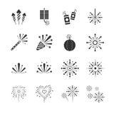 Icone dei fuochi d'artificio royalty illustrazione gratis