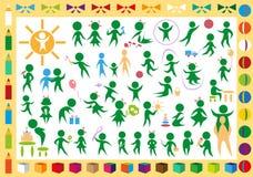 Icone dei giocattoli e dei bambini Fotografia Stock Libera da Diritti