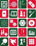 Icone dei giochi Fotografia Stock