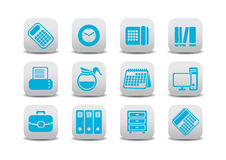 Icone dei mobili d 39 ufficio illustrazione vettoriale for Stock mobili ufficio