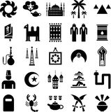 Icone dei paesi arabi Fotografia Stock