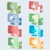 Icone dei personal computer illustrazione vettoriale