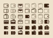 Icone dei portafogli Immagine Stock