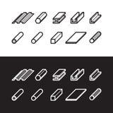 Icone dei prodotti di metallurgia messe Illustrazione di vettore del metallo illustrazione di stock