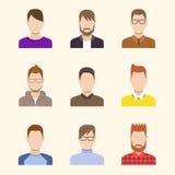 Icone dei ragazzi messe Concetto della squadra Immagine Stock