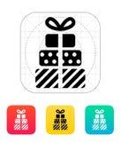 Icone dei regali su fondo bianco. illustrazione di stock