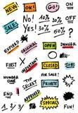 icone dei segni Immagini Stock Libere da Diritti