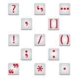 Icone dei segni di interpunzione Fotografia Stock