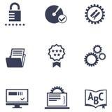 Icone dei servizi differenti di azienda delle tecnologie dell'informazione Illustrazione Vettoriale