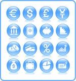 Icone dei soldi Fotografie Stock Libere da Diritti