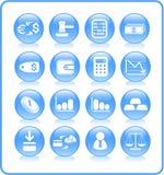 Icone dei soldi Fotografie Stock
