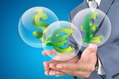 Icone dei soldi per le finanze di affari Fotografia Stock Libera da Diritti