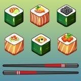 Icone dei sushi Fotografia Stock Libera da Diritti
