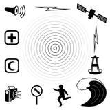 Icone dei tsunami Immagine Stock