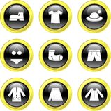 Icone dei vestiti Immagini Stock