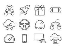 Icone dei video giochi Immagini Stock Libere da Diritti