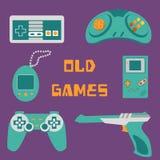 Icone dei video giochi Fotografie Stock Libere da Diritti