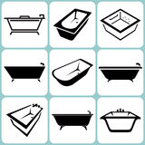 Icone del bagno messe Fotografia Stock