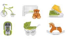 Icone del bambino di vettore. Parte 2 illustrazione di stock