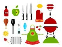 Icone del barbecue Fotografia Stock Libera da Diritti