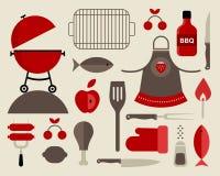 Icone del barbecue Immagine Stock Libera da Diritti