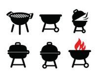 Icone del barbecue Immagine Stock