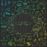 Icone del BBQ messe Immagine Stock Libera da Diritti