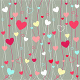 Icone del biglietto di S. Valentino dei cuori Fotografia Stock